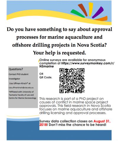 Marine Aquaculture & Offshore Drilling in Nova Scotia Survey